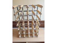 Pine stackable wine rack holder