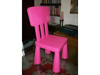Pink Child's Plastic Chair
