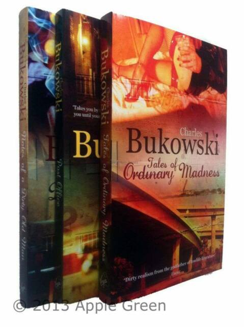 Charles Bukowski 3 Books Ordinary Madness Post Office Dirty Old Man New
