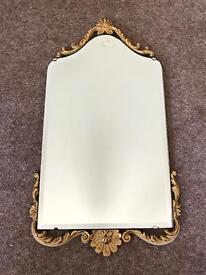 Vintage Peerart Gilt edged metal bevelled mirror