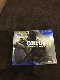 Brand new and sealed Sony PlayStation 4 slimline with the new call of duty infinity warfare. PS4