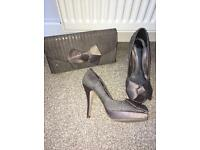 Faith taupe size 5 sequenced party shoe