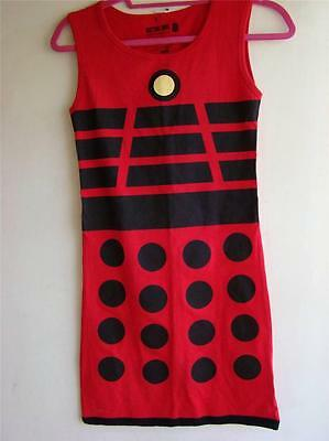 DOCTOR WHO RED DALEK COSPLAY DRESS FROM HOT TOPIC LADIES JR.SIZE S NEW LAST 1   - Dalek Dress
