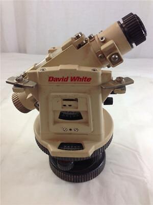 David White Lt8-300lp Universal Level Transit With Laser Plummet