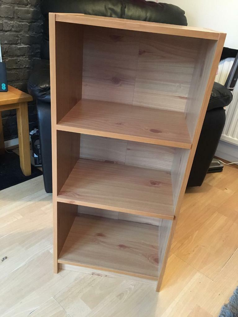 Small pine effect book case
