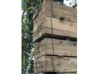 New British Eco Treated Sleepers - 20 PACK DEAL 250mm X 125mm