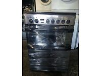 BLACK/SILVER INDESIT 60CM ELECTRIC COOKER, 4 MONTHS WARRANTY, FREE LOCAL DELIVERY