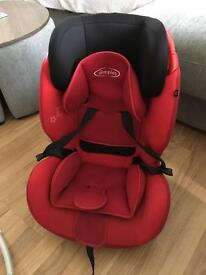 Red dimples car seat