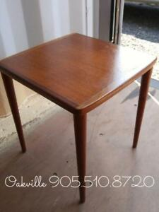 Oakville 14x14x155 Danish Teak Midcentury Side Table Recently Cleaned And Oiled Solid Wood