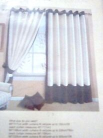 Brand New Curtains, all 54 inch Drop, all £5 a Pair.