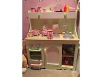 Girls kitchen play area with lots of extras