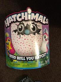 Brand new in box pink hatchimals