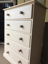 Up Cycled Large Solid Pine Chest of Drawers + Two Bedside Tables ( Free Delivery)