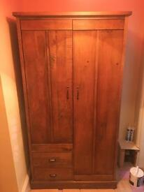 Large, solid wood double wardrobe