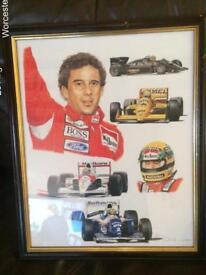 Ayrton Senna. Ltd editions.
