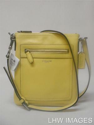 NWT COACH LEGACY LEATHER SWINGPACK PURSE CROSSBODY 47989 LEMON HTF