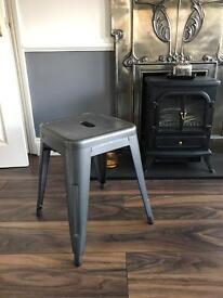 Beautiful metal grey tolix stool