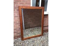 Large Rustic Oak Mirror
