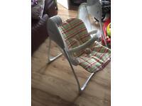 Baby seat swinging/rocking Graco