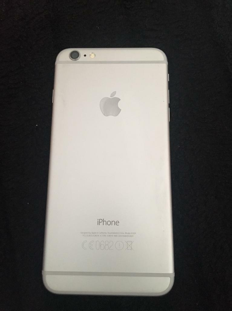 Apple iPhone 6 Plus 16gb white/silver excellent condition. Warranty included
