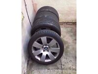 """Bmw 18"""" Alloy Wheels E60 E61 F10 E90 1&3&5 SERIES Can Sell Single Can Post Part Ex Welcome"""