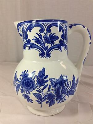 1996 Tiffany & Co Tiffany Delft Pitcher Made In Portugal Porcelain Blue