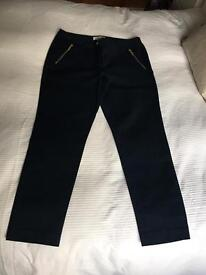 Navy Blue with Gold Zips Michael Kors Trousers