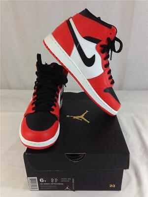 Nike Air Jordan 1 Retro High 332550 800 Size 6Y (Youth) Max Orange Black Shoes