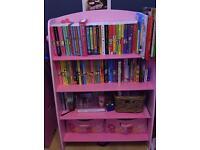 Girls bedroom furniture bookcase shelf and storage