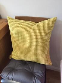 Yellow Cushion Covers x 2