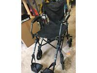 Nearly new fold up lightweight wheelchair