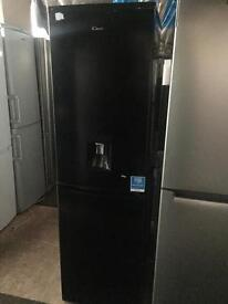 Candy black good looking frost free A-class fridge freezer cheap