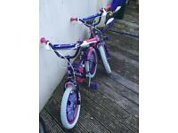 2 used Annabelle bikes 16 inch wheel