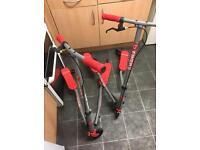 2 X razor fliker scooters