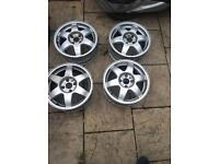 Vauxhall ceresos 4x100 all caps no tyres