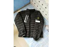 Men's stone island puffer jacket black size M
