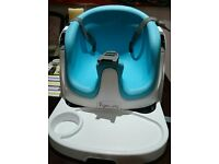 Ingenuity 2-in-1 Baby Base Booster Seat (Aqua Blue)