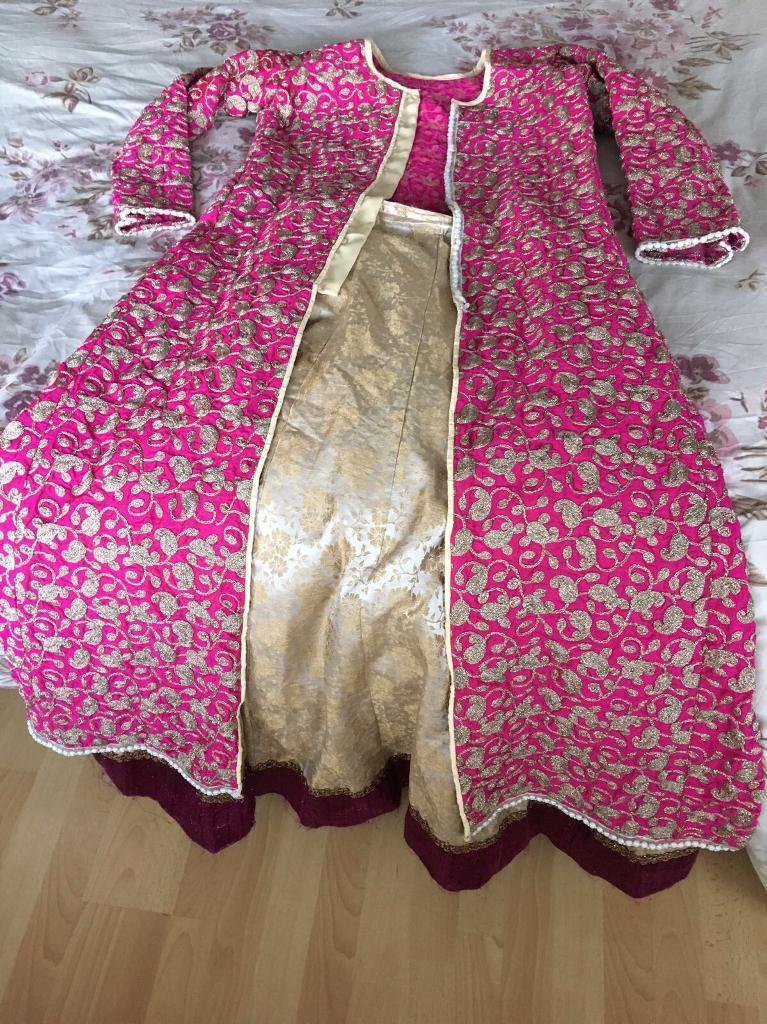 Indian/pakistani Asian clothes long dress lehenga jacket