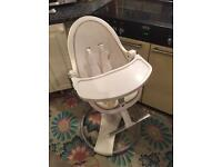 White chrome bloom Fresco highchair