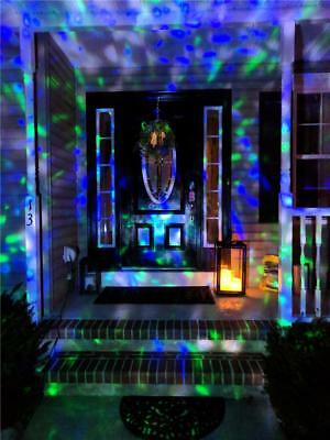 Halloween Light Show Animals (BLUE GREEN LED Projection LIGHT SHOW Animated Outdoor Halloween Decoration)
