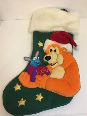 "Disney Bear in the Big Blue House Plush Christmas Stocking 21"" Tutter Mouse 3D"
