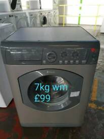 Hotpoint silver 7kg washing machine free delivery in Coventry