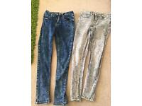 Girls new looks jeans age 12 ex condition