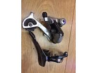 Deore XT derailleurs front and rear 7 x 3