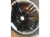 "22"" inch RANGE ROVER SPORT ALLOYS WHEELS X4 WITH GOOD TYERS"