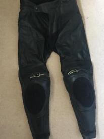 Alpinestars leather trousers