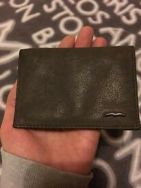 Hugo boss brown leather wallet