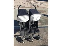 Maclaren twin techno double buggy in good condition.