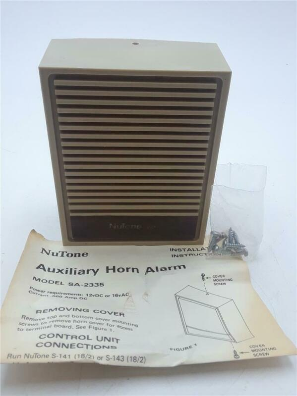 Nutone SA-2335 Inside Alarm Horn (Electronic)