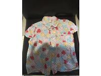Pretty Girls Heart Shirt. Age 5